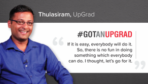 Data Analytics Student Speak: Story of Thulasiram