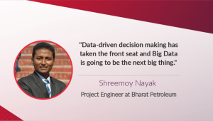 Shreemoy's stint in Big Data being a Mechanical Engineer