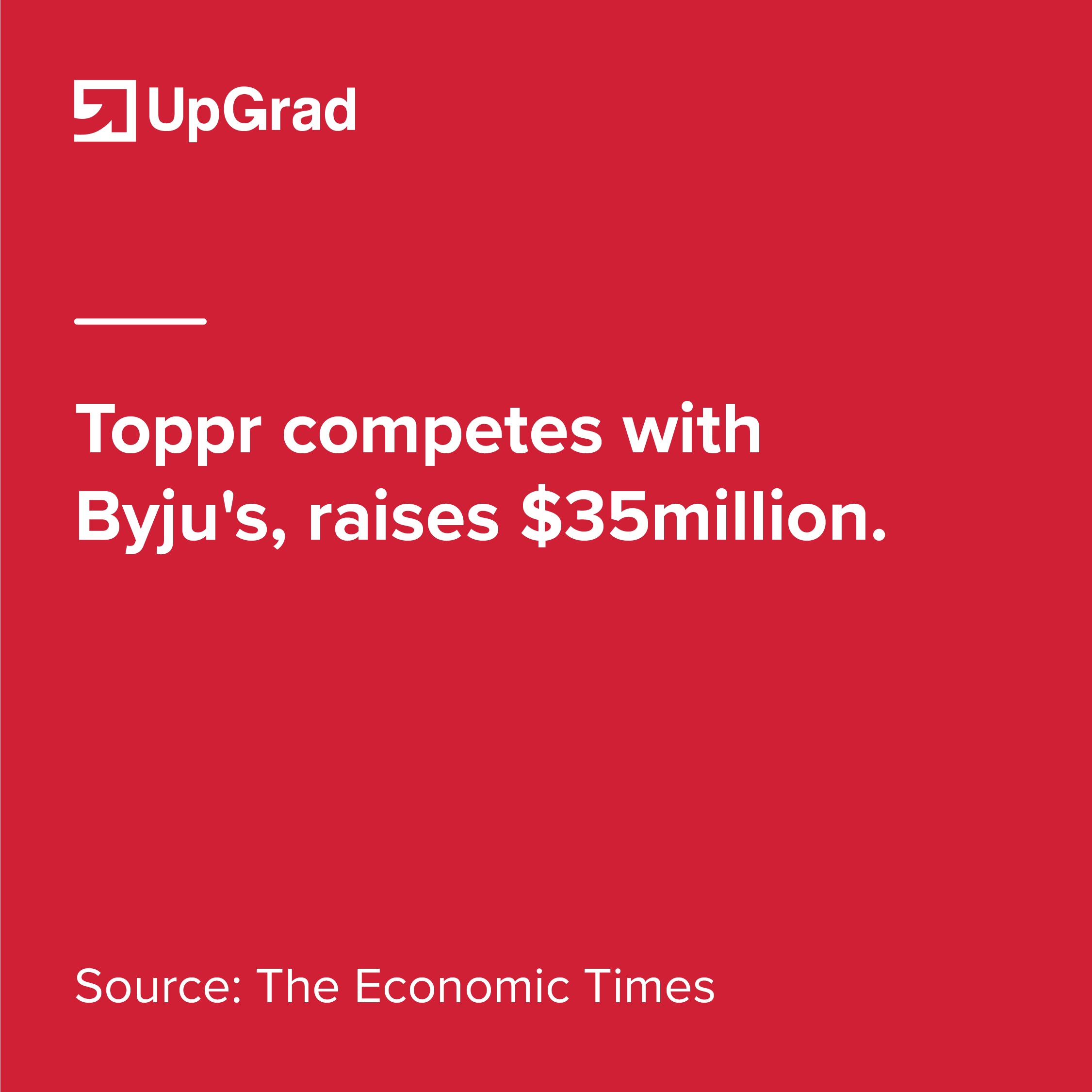 Toppr competes with Byju's