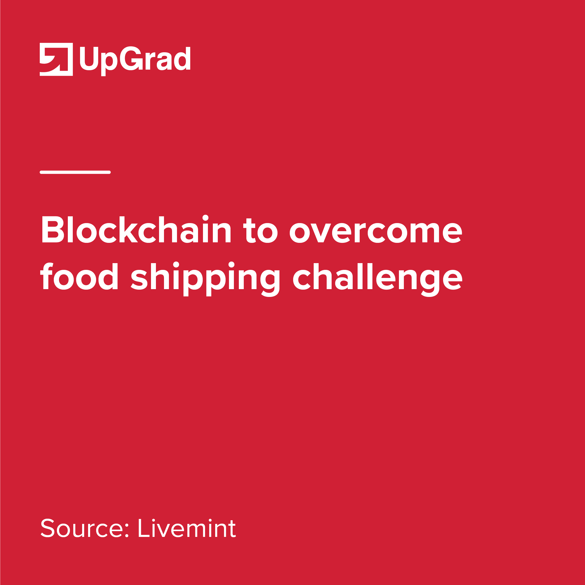blockchain to overcome food shipping challenge