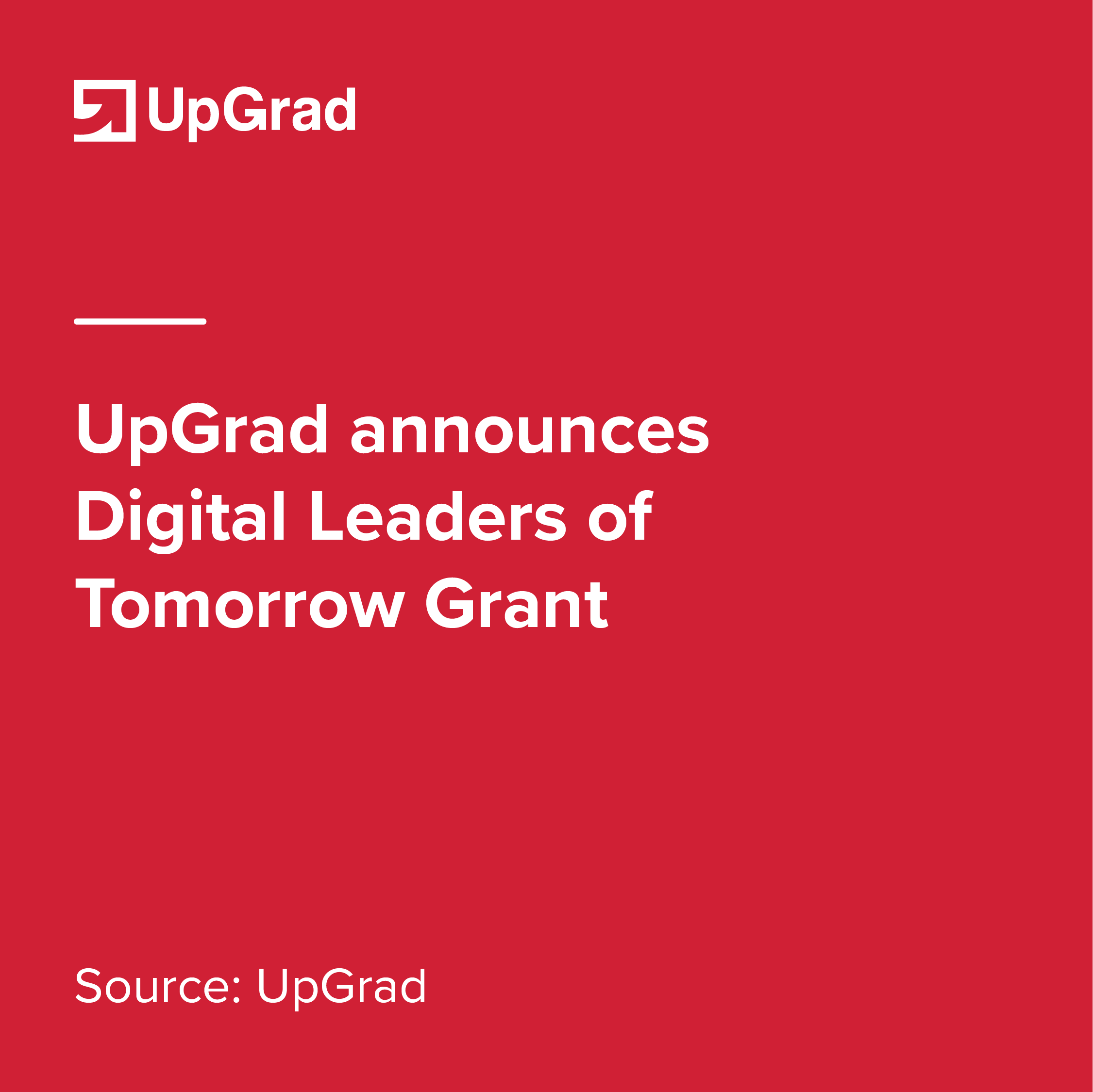 upgrad announces digital leaders of tomorrow grant