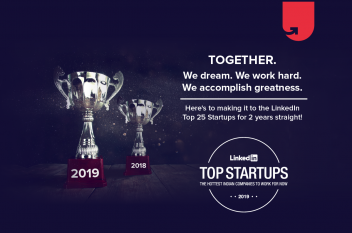 upGrad inducted in the list of top 25 startups in India to work for!
