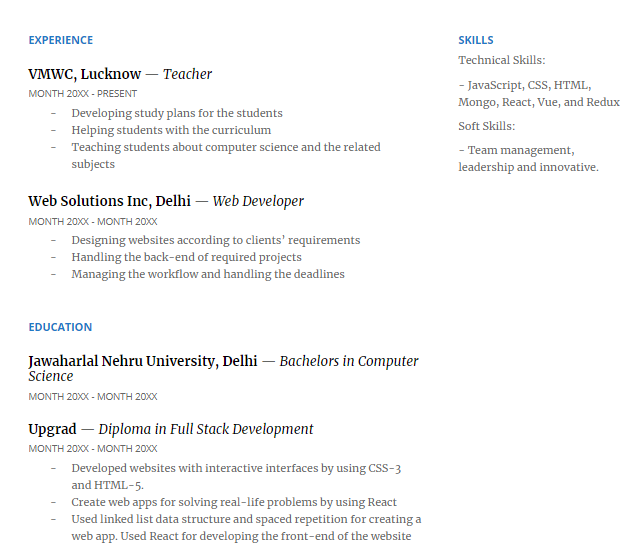 Full Stack Developer Resume Complete Guide Samples Upgrad Blog